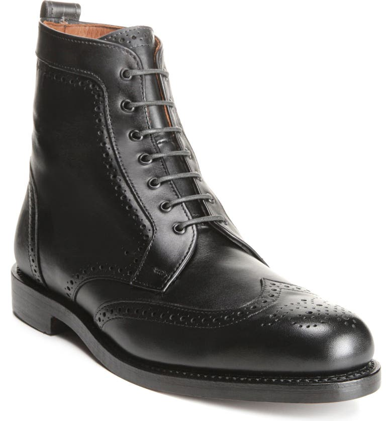 ALLEN EDMONDS Dalton Wingtip Boot, Main, color, BLACK
