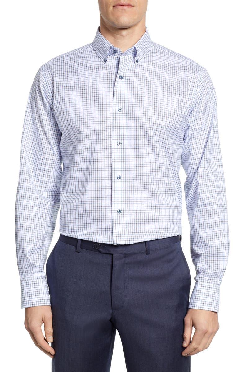 LORENZO UOMO Trim Fit Check Dress Shirt, Main, color, 450