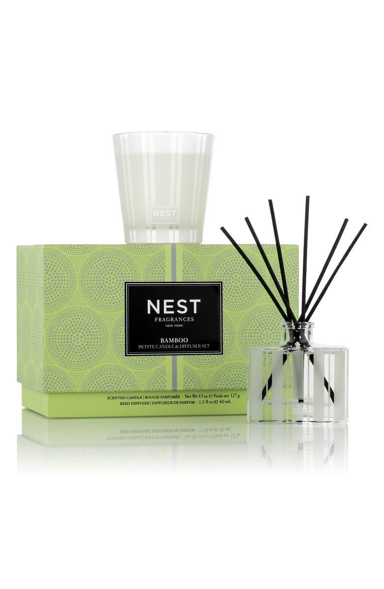 NEST FRAGRANCES Bamboo Petite Candle & Diffuser Set, Main, color, 000