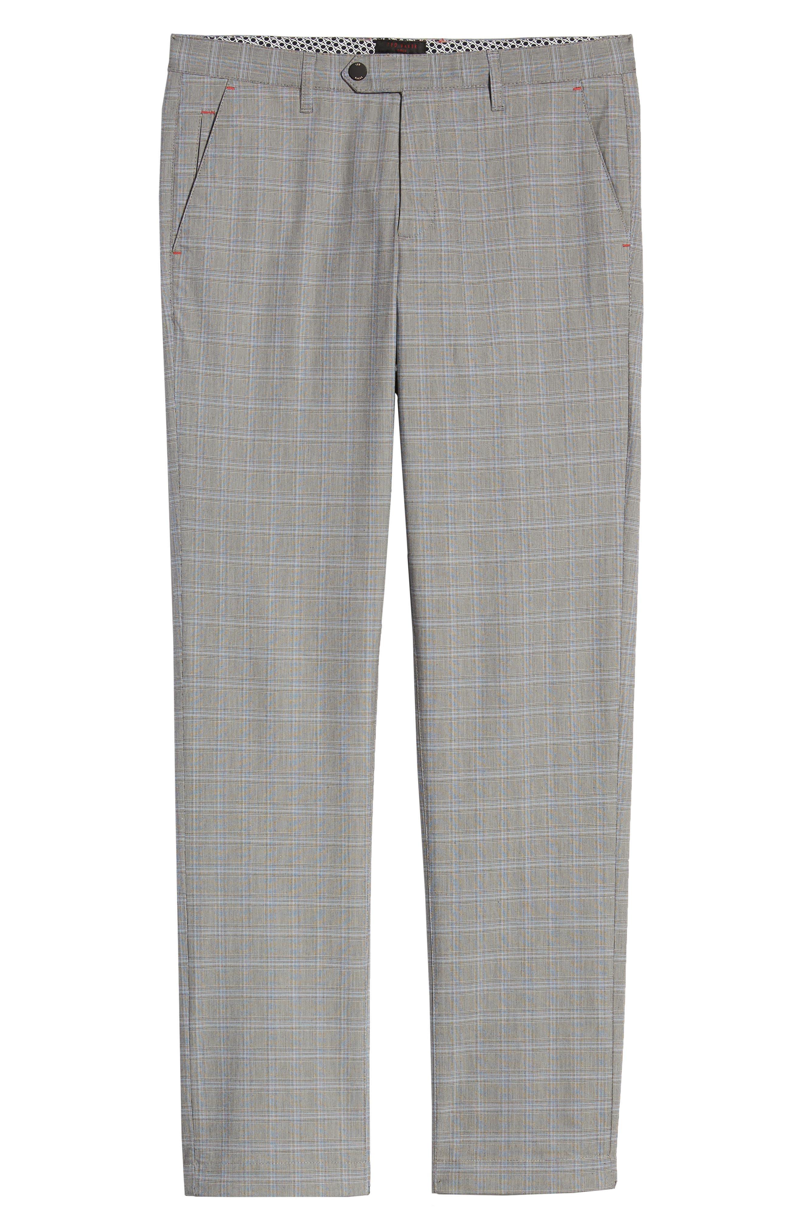 ,                             Snoopd Slim Fit Check Golf Pants,                             Alternate thumbnail 7, color,                             GREY