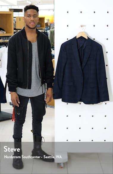 Nobis Trim Fit Plaid Wool Sport Coat, sales video thumbnail