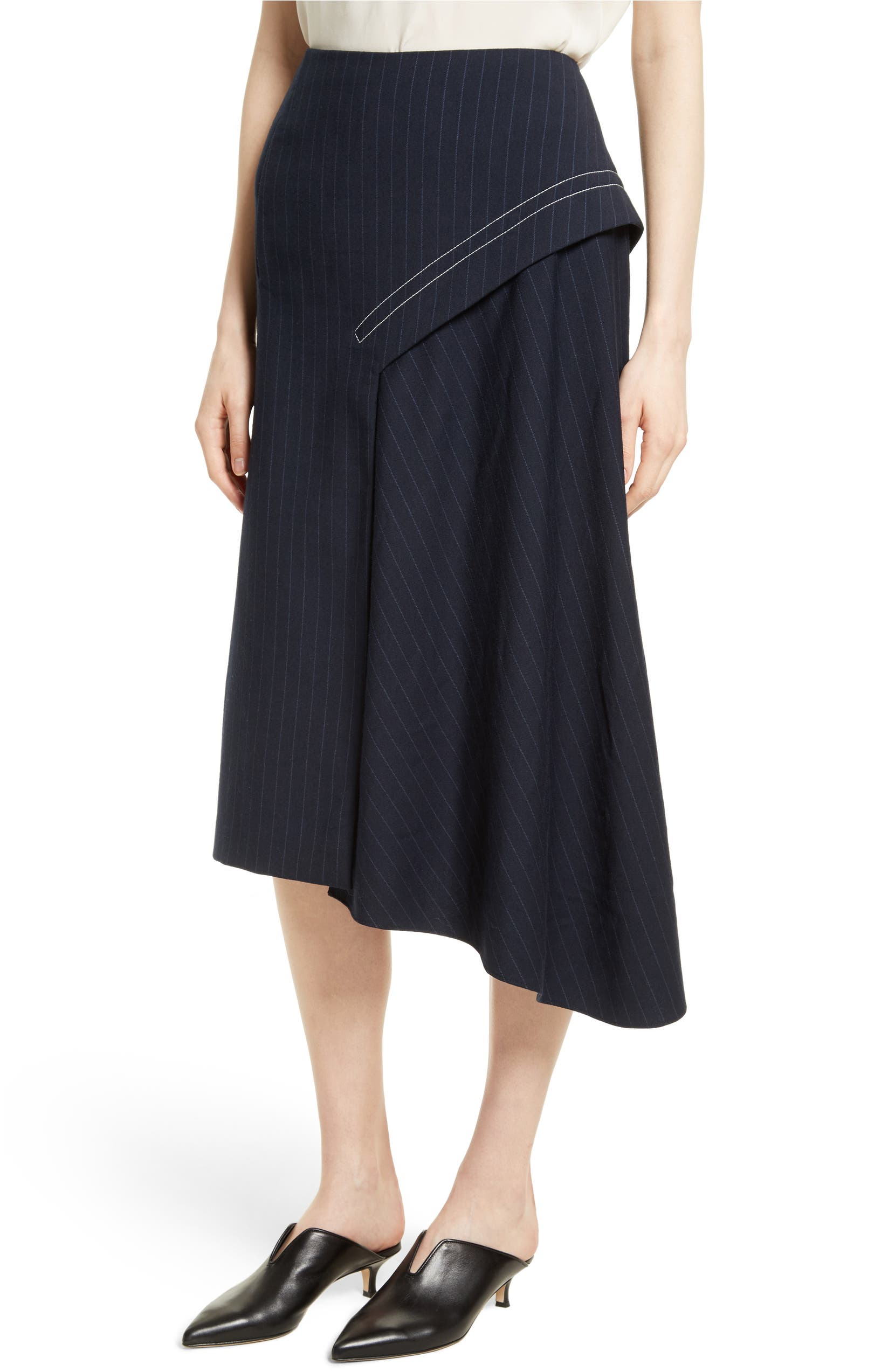 100% authenticated new products for beautiful in colour Tibi Delmont Draped Midi Skirt | Nordstrom