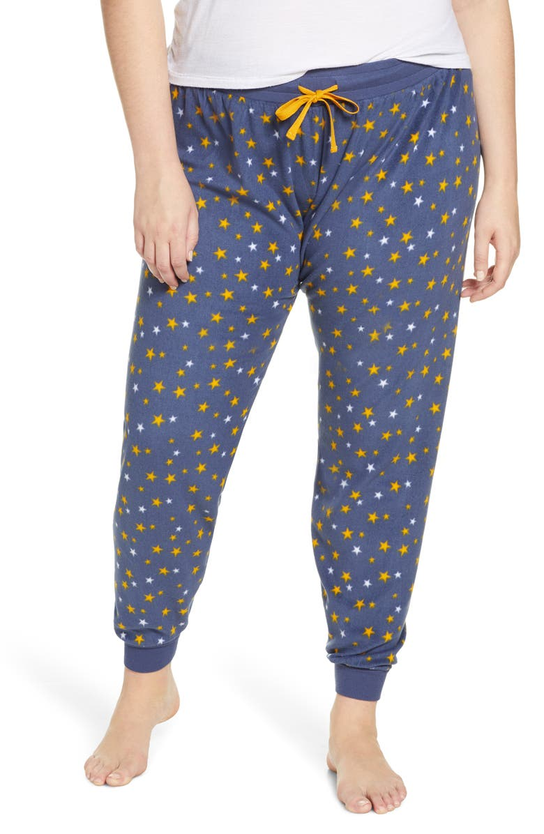 BP. Microfleece Jogger Pants, Main, color, BLUE VINTAGE STARS