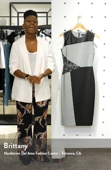 Mixed Knit Sheath Dress, sales video thumbnail