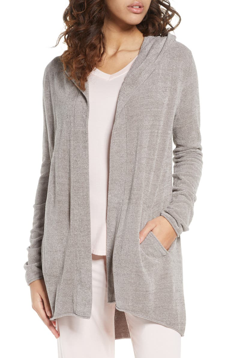 BAREFOOT DREAMS<SUP>®</SUP> CozyChic<sup>™</sup> Ultra Lite Hooded Cardigan, Main, color, 020