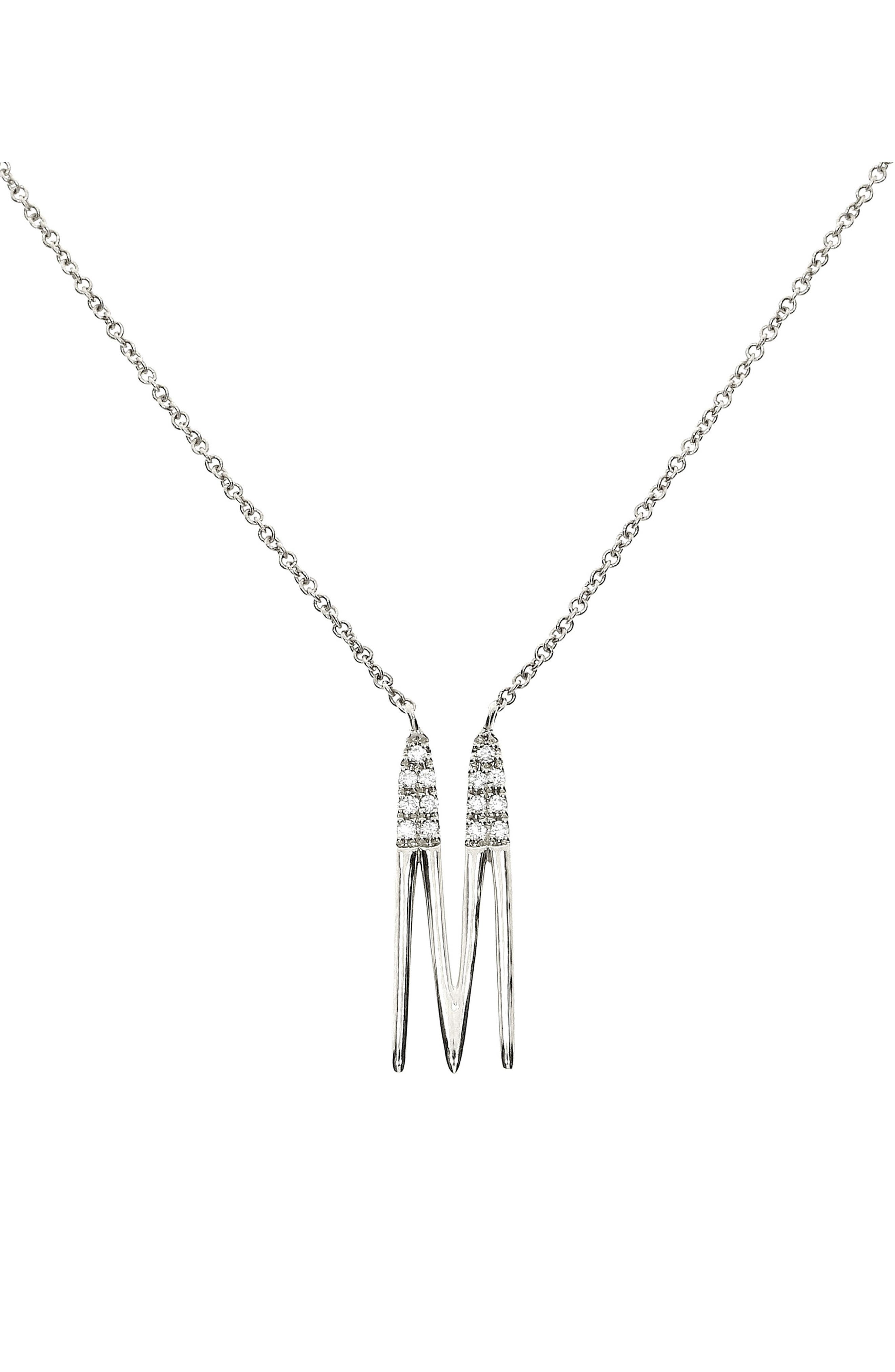 An elongated initial handcrafted in 18-karat gold is sprinkled with glittering white diamonds in this meaningful pendant necklace that makes a great gift. Style Name: Bony Levy Diamond Initial Pendant Necklace (Nordstrom Exclusive). Style Number: 5947130. Available in stores.