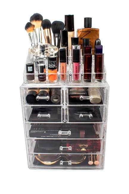 Image of Sorbus Acrylic 7 Drawer & Top Organizer Cosmetics Makeup & Jewelry Storage Case Display Set