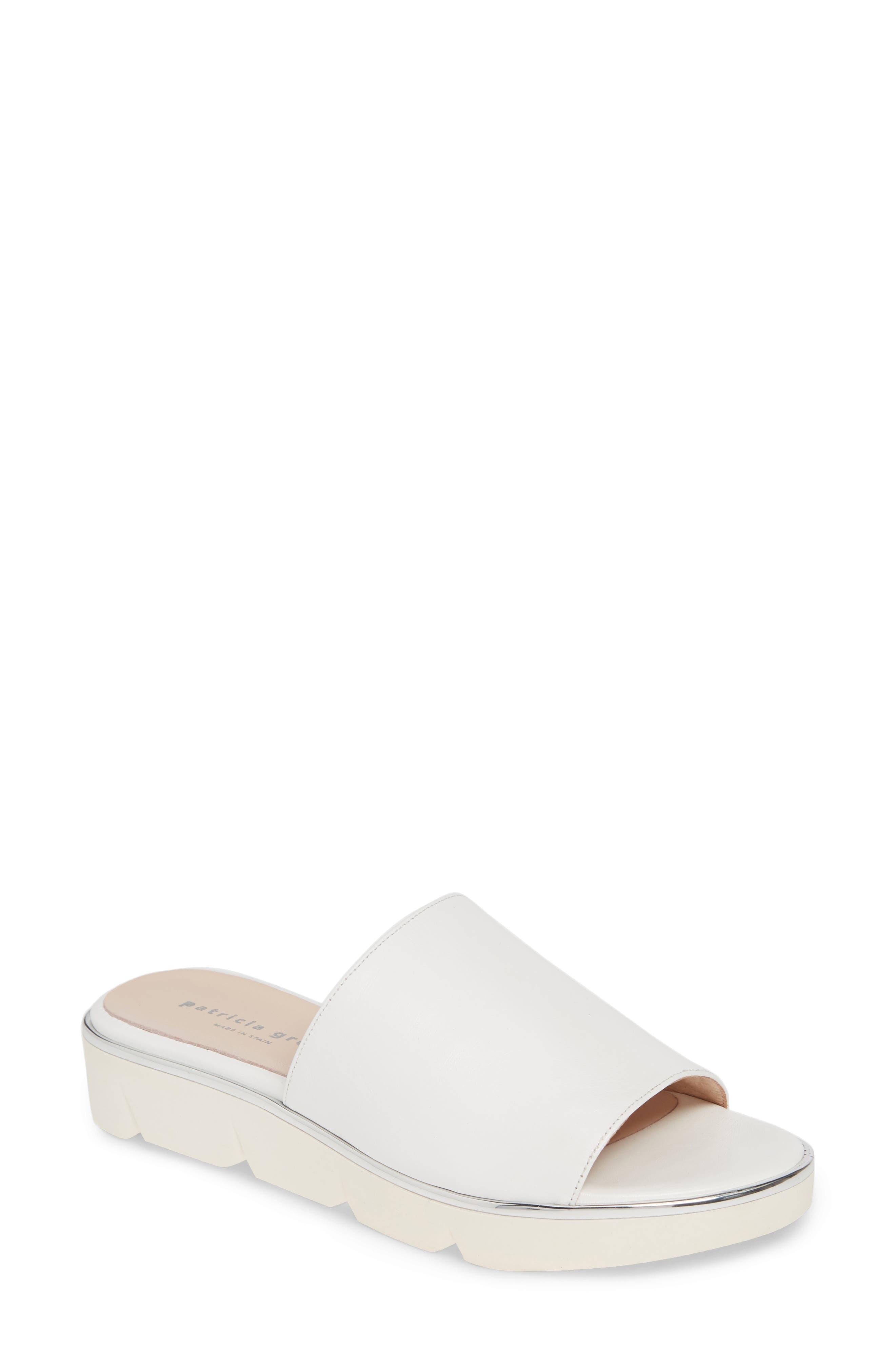 Patricia Green Callie Slide Sandal, White