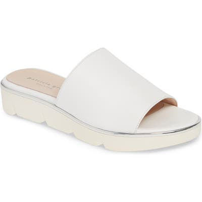 Patricia Green Callie Slide Sandal, White