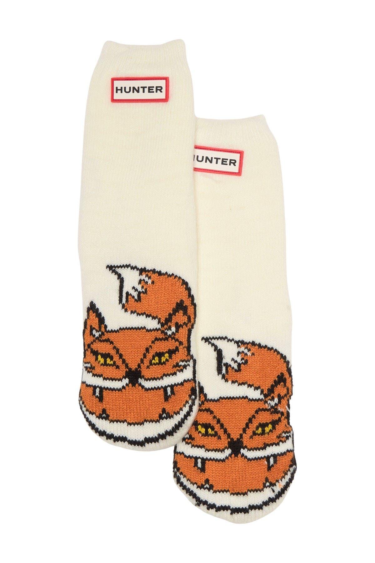 Image of Hunter Cheeky Fox Print Cuff Boot Sock