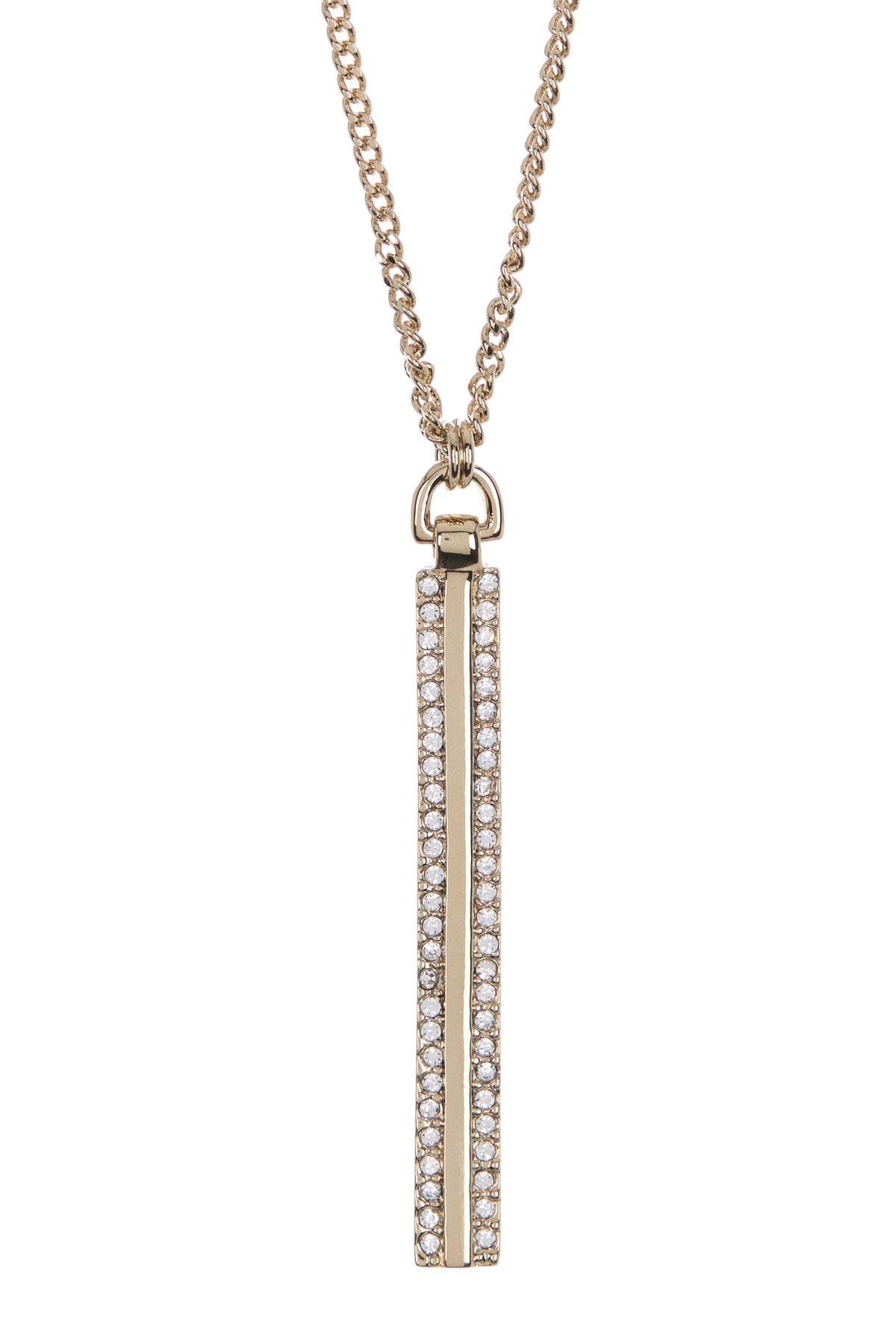 Image of DKNY Crystal Pave Pendant Necklace