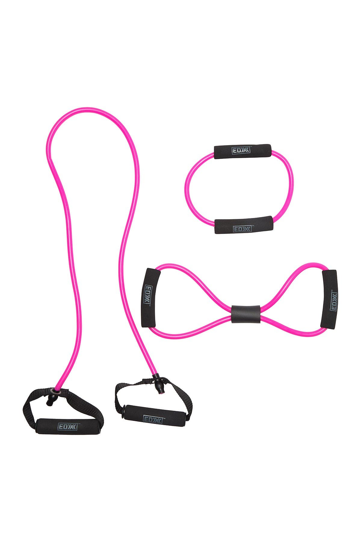 Image of OCI Pink EDX Resistance Toning Stretch Bands 3-Piece Set