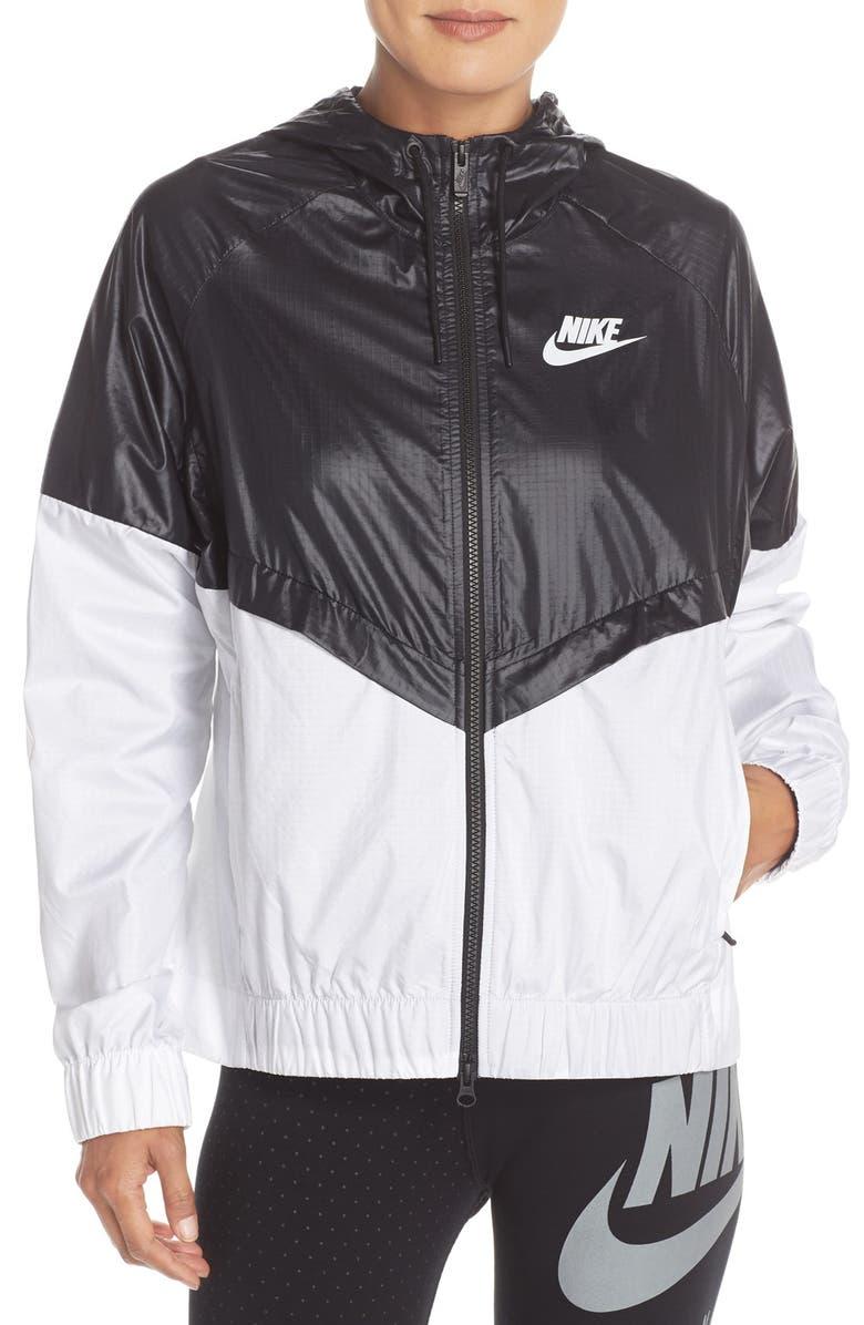 NIKE 'Windrunner' Hooded Windbreaker Jacket, Main, color, 010