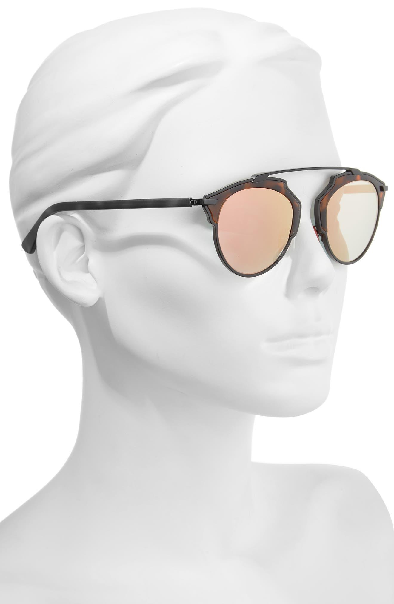 ,                             So Real 48mm Brow Bar Sunglasses,                             Alternate thumbnail 17, color,                             006