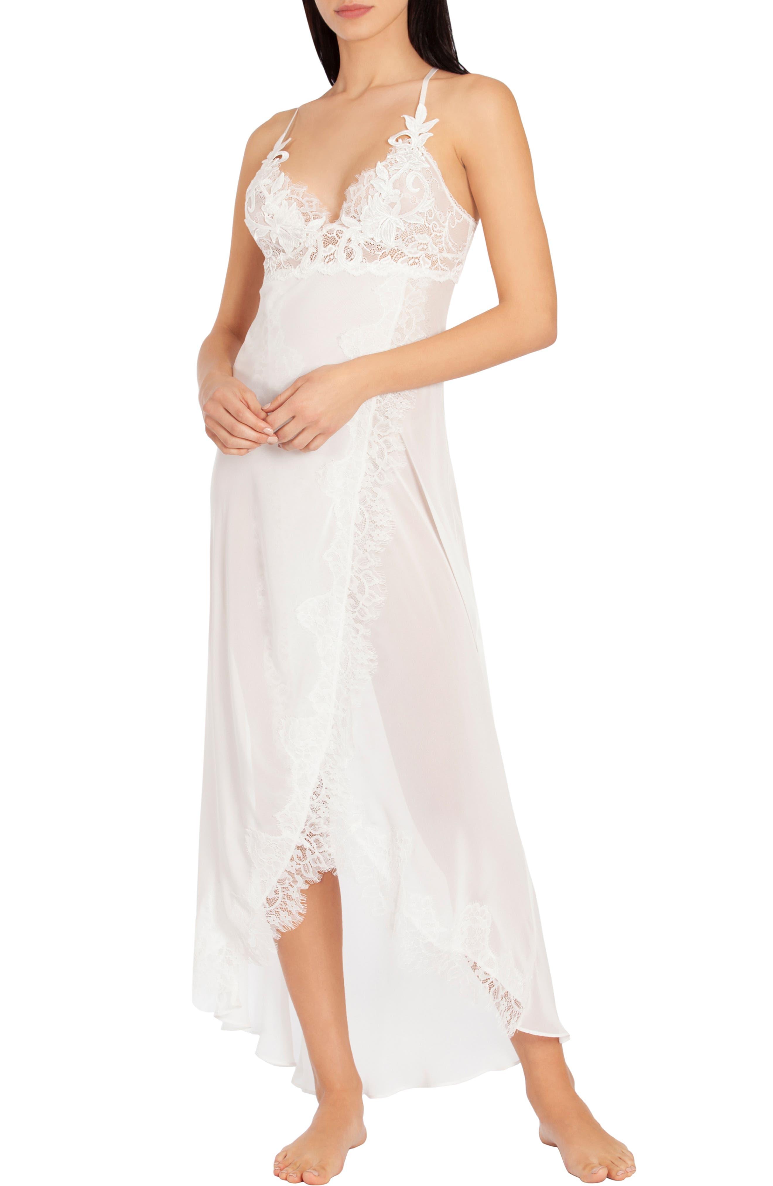Jonquil Stephanie Chiffon Nightgown, Ivory
