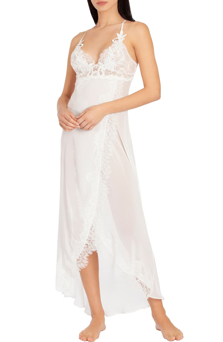 JONQUIL Stephanie Chiffon Nightgown, Main, color, IVORY