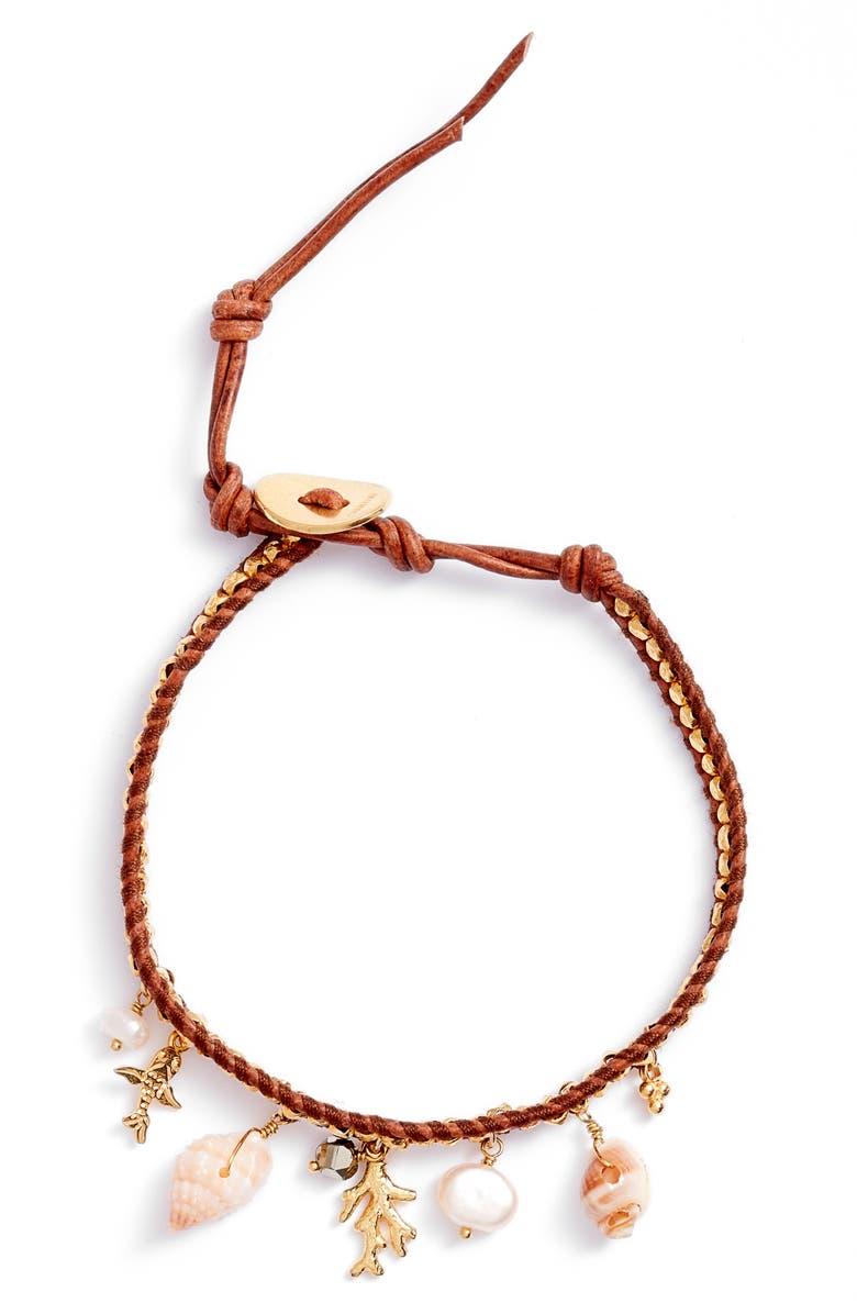 CHAN LUU Beach Charm Bracelet, Main, color, YELLOW GOLD
