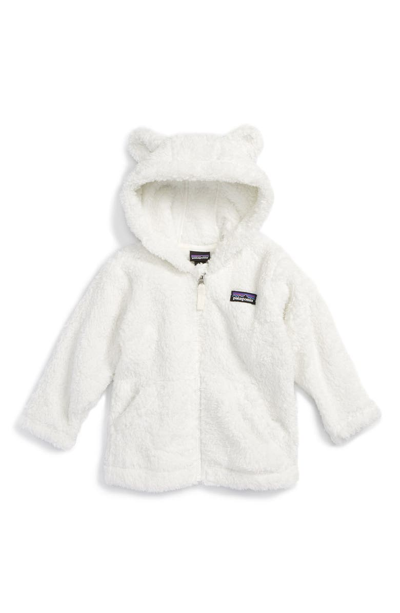 PATAGONIA Furry Friends Fleece Hoodie, Main, color, BIRCH WHITE