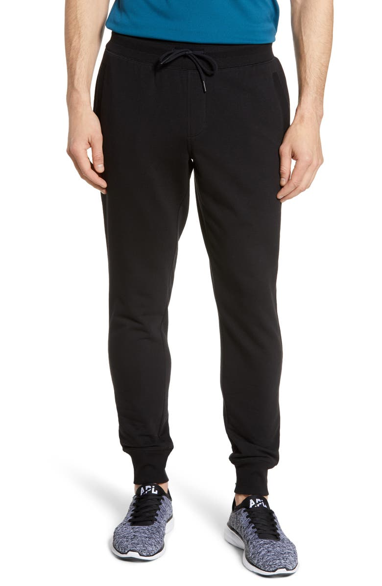 ZELLA Jogger Sweatpants, Main, color, BLACK