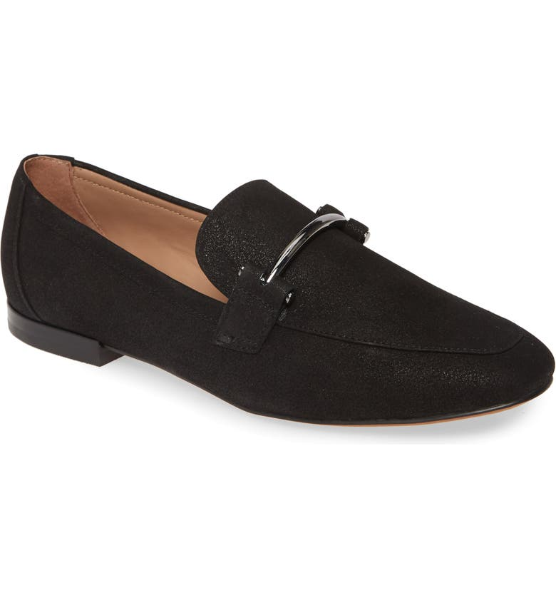 LINEA PAOLO Iggy Loafer, Main, color, BLACK LEATHER