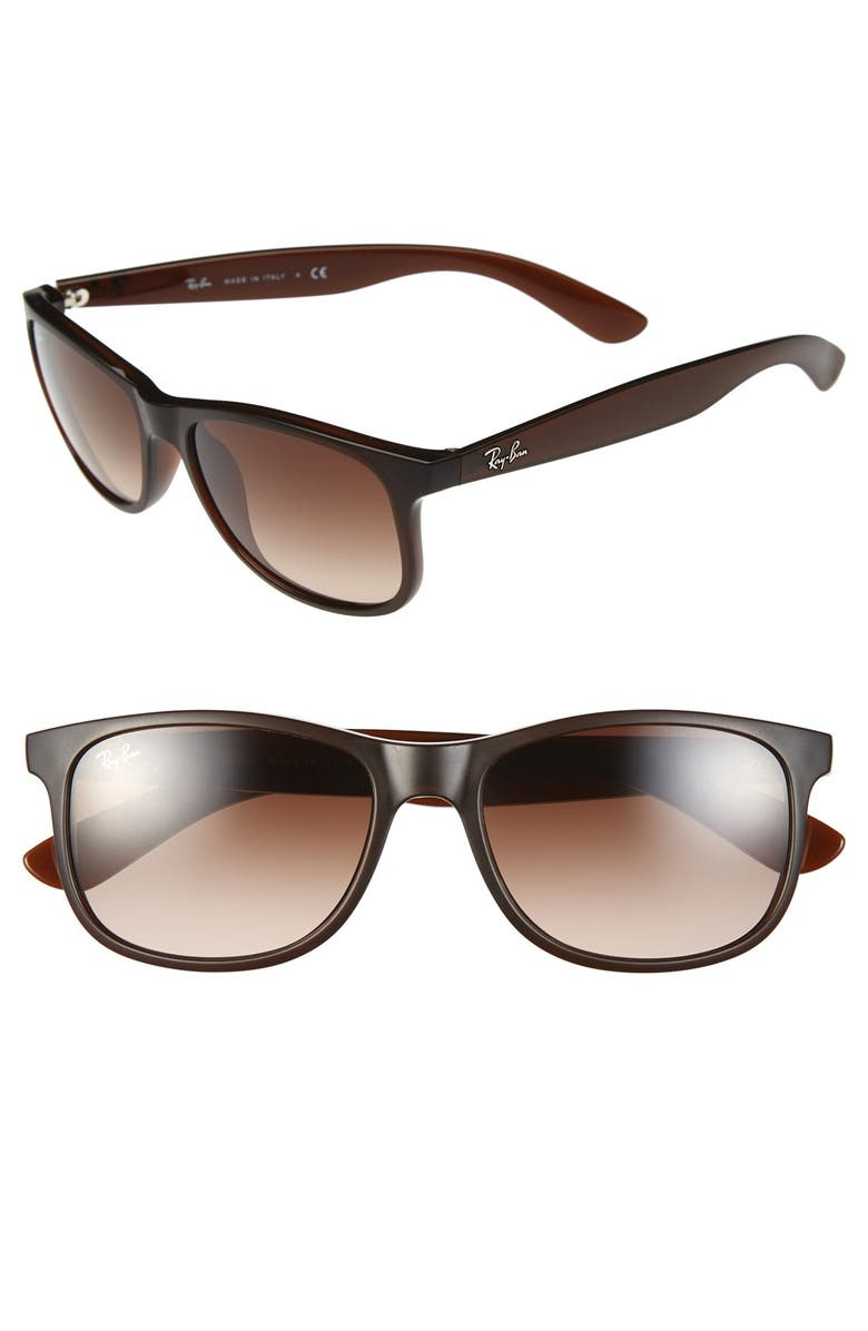 RAY-BAN 'Youngster' 55mm Sunglasses, Main, color, BROWN