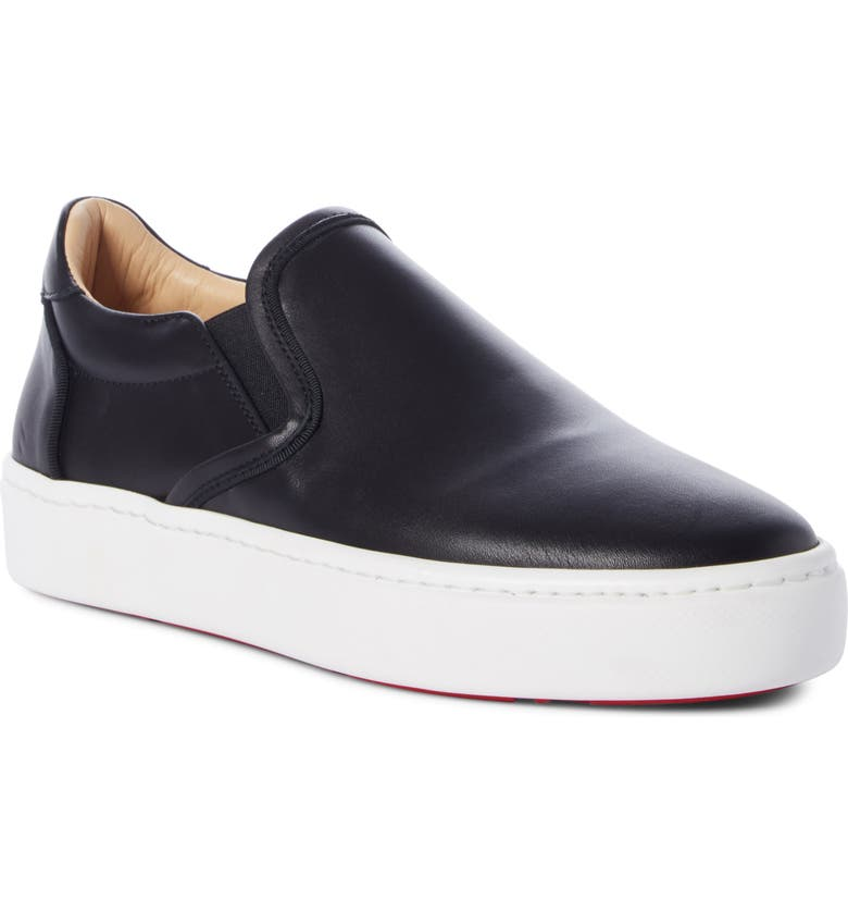 CHRISTIAN LOUBOUTIN Masteral Platform Slip-On Sneaker, Main, color, BLACK