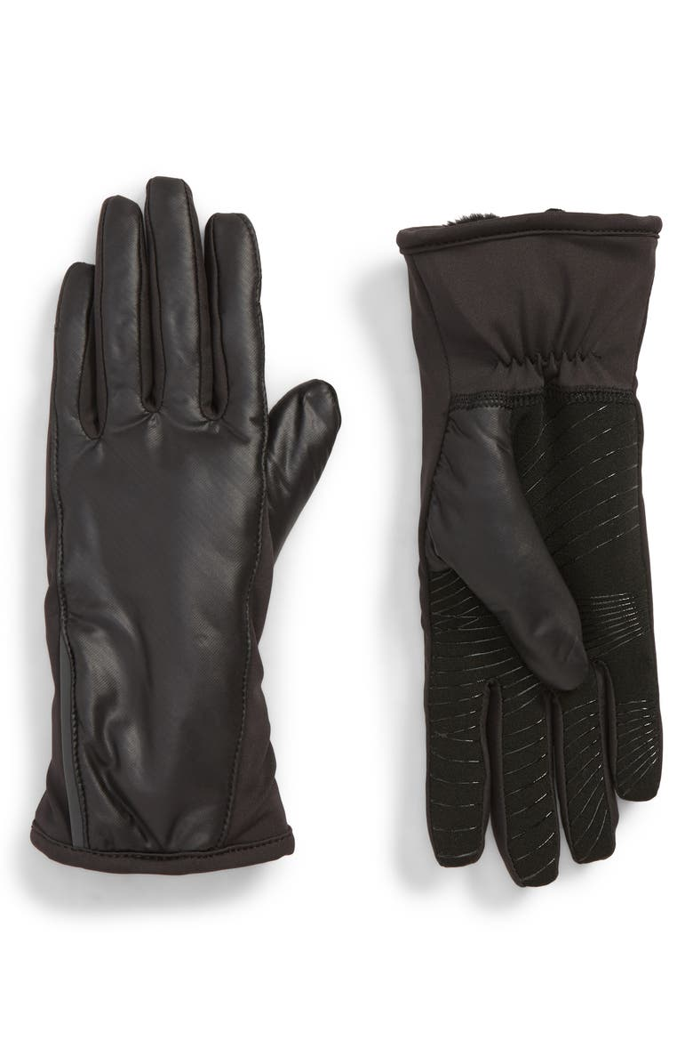 U|R All Weather Heat Touchscreen Compatible Gloves, Main, color, BLACK