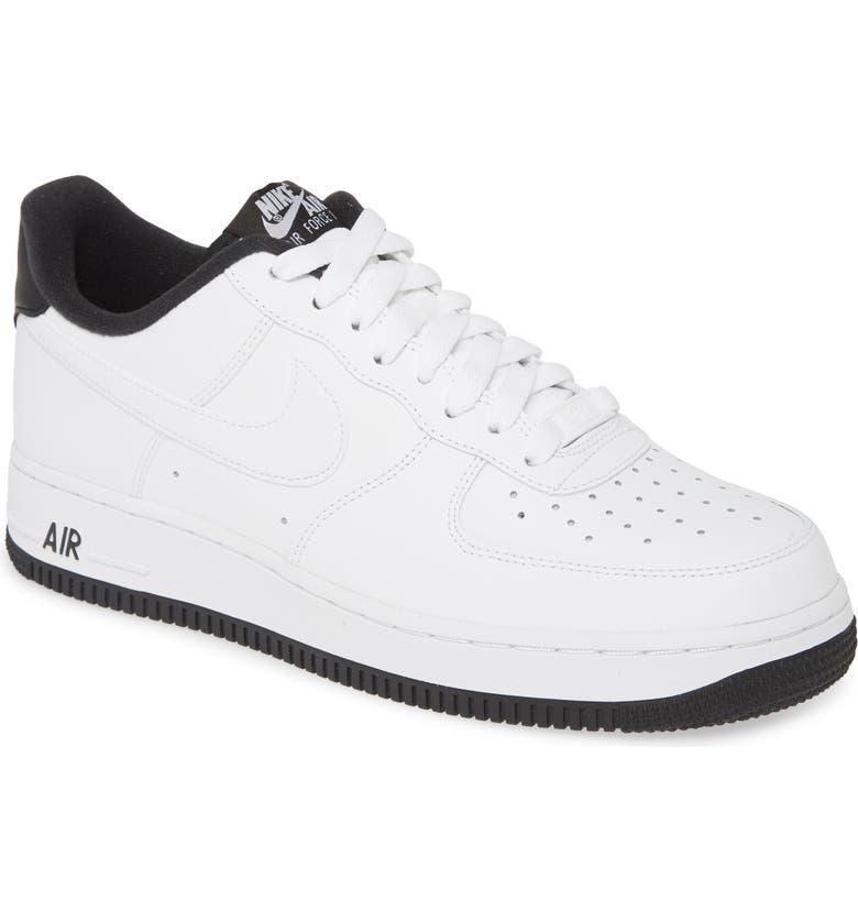 NIKE Air Force 1 '07 1 Sneaker, Main, color, WHITE/ BLACK/ WHITE
