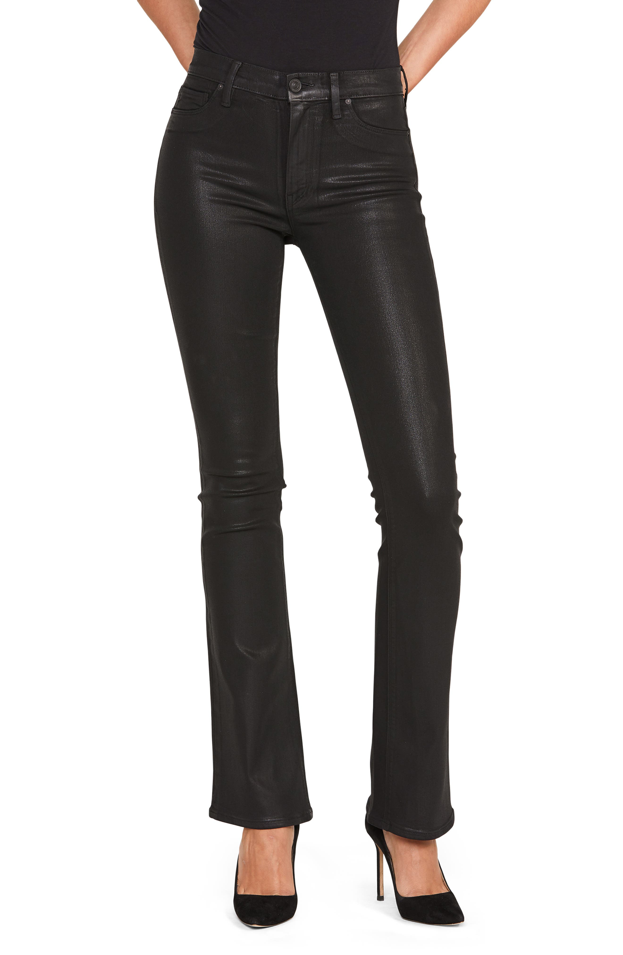 Women's Hudson Jeans Barbara Coated High Waist Bootcut Jeans
