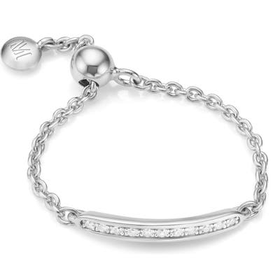 Monica Vinader Skinny Bar Friendship Diamond Chain Ring