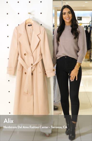 x Atlantic-Pacific Long Wool Blend Trench Coat, sales video thumbnail