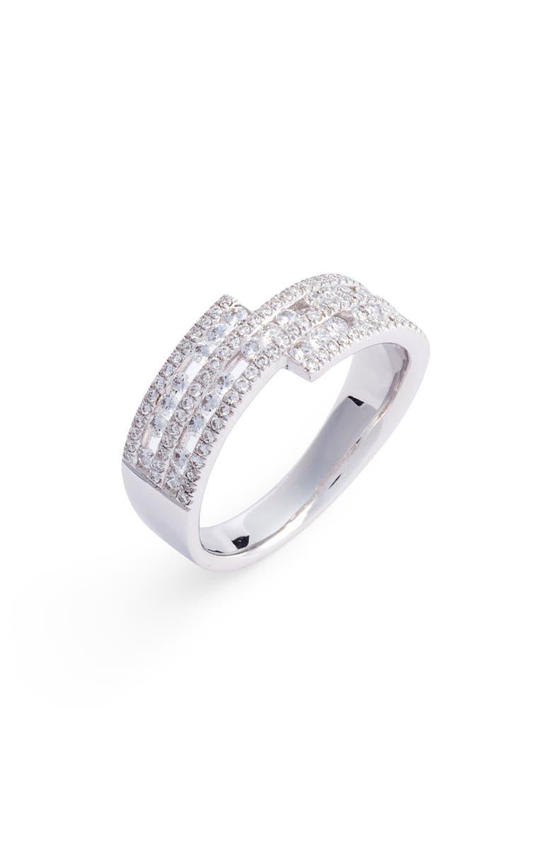 BONY LEVY Amara Luxe Wrap Diamond Ring, Main, color, WHITE GOLD