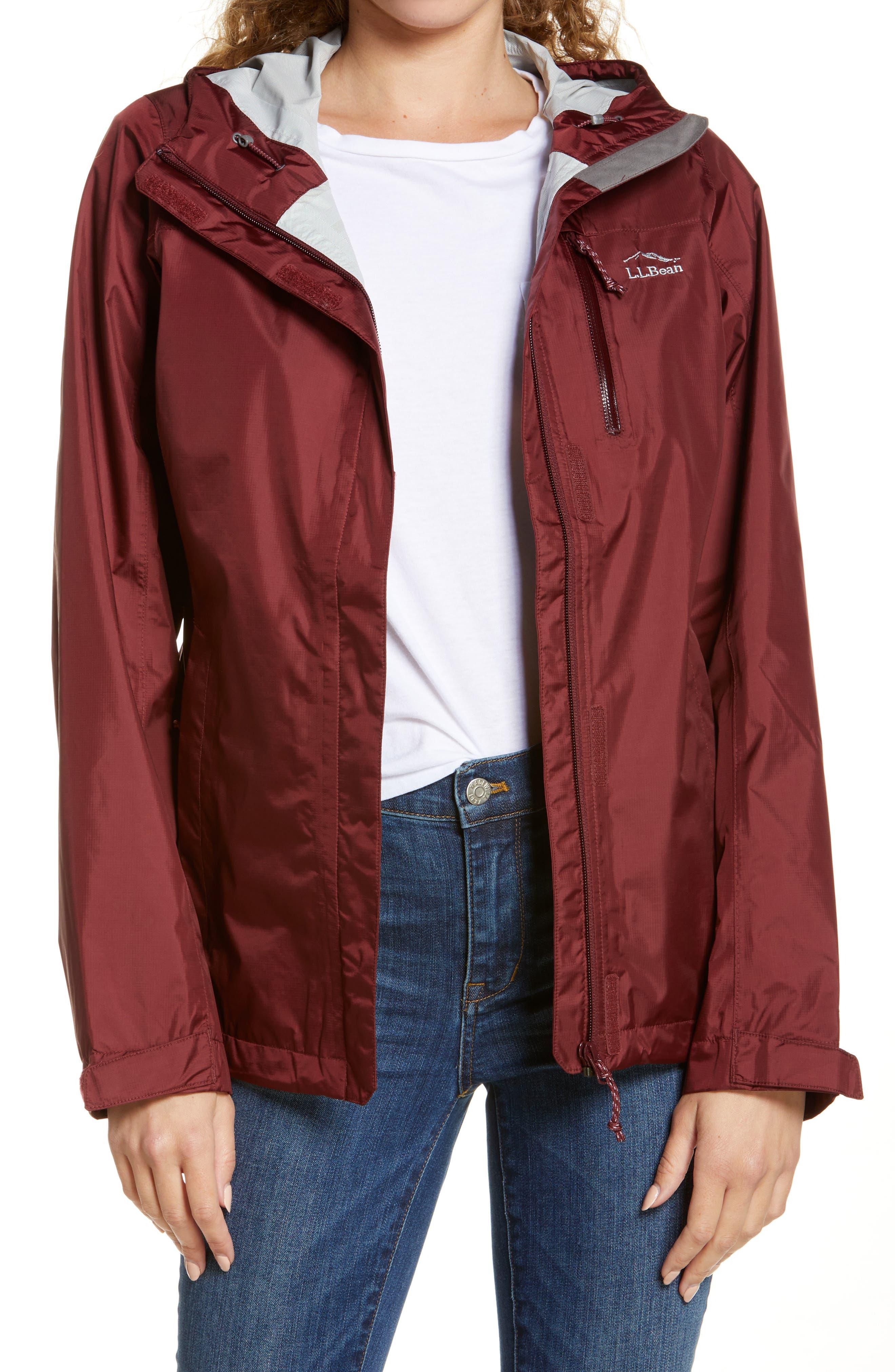 Women's L.l. Bean Trail Model Water Resistant Packable Rain Jacket