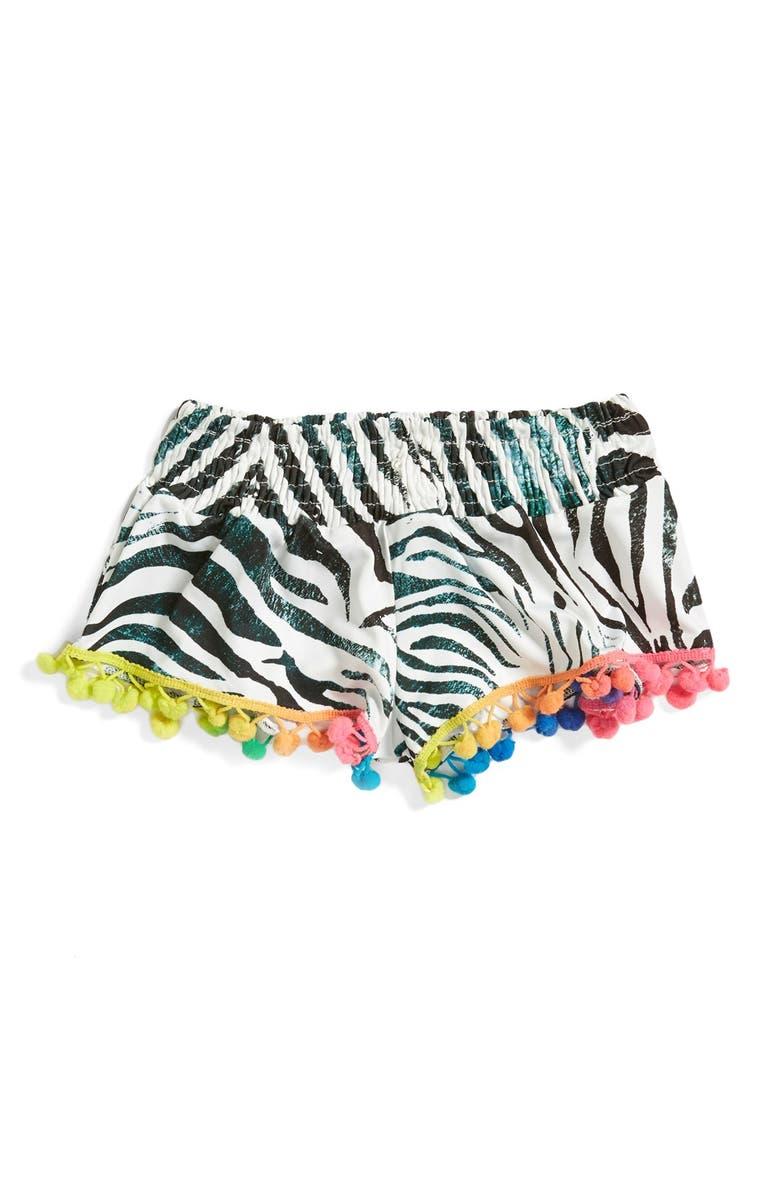 PILYQ 'Lily' Pompom Shorts, Main, color, 962