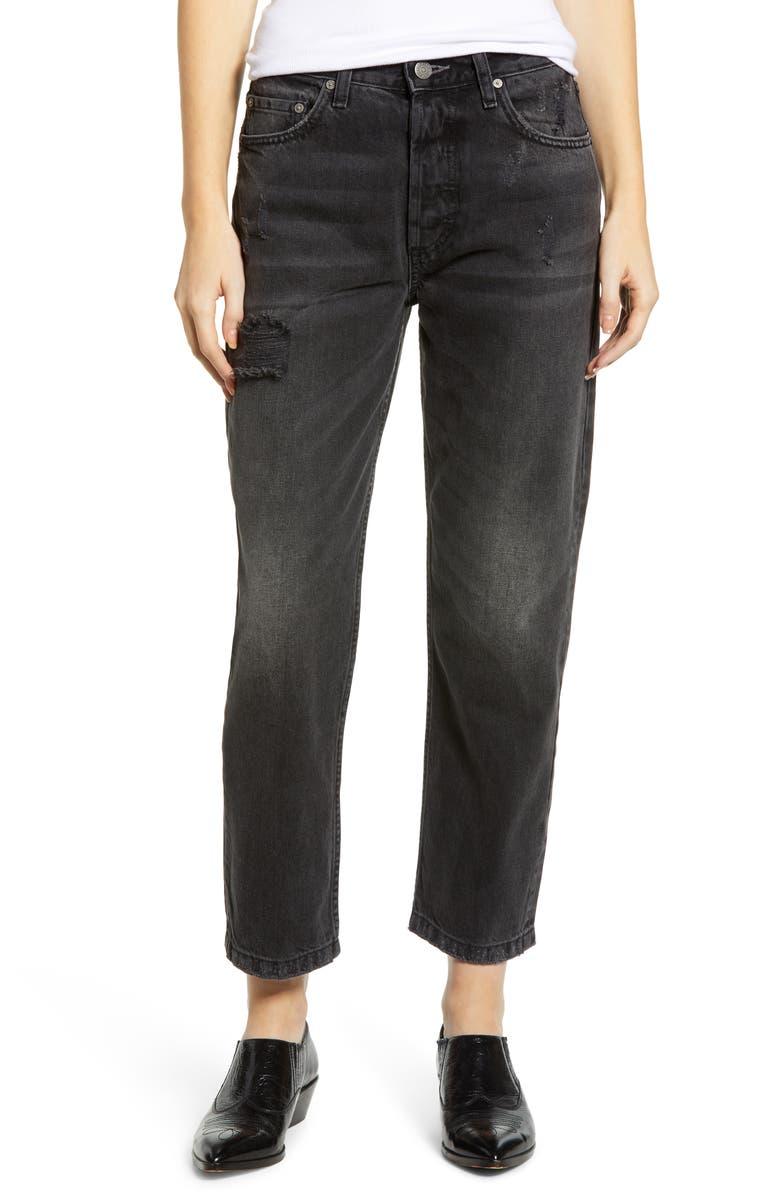 Boyish Jeans The Tommy High Waist Crop Straight Leg Jeans Octopussy