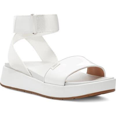 UGG Lennox Platform Sandal- White