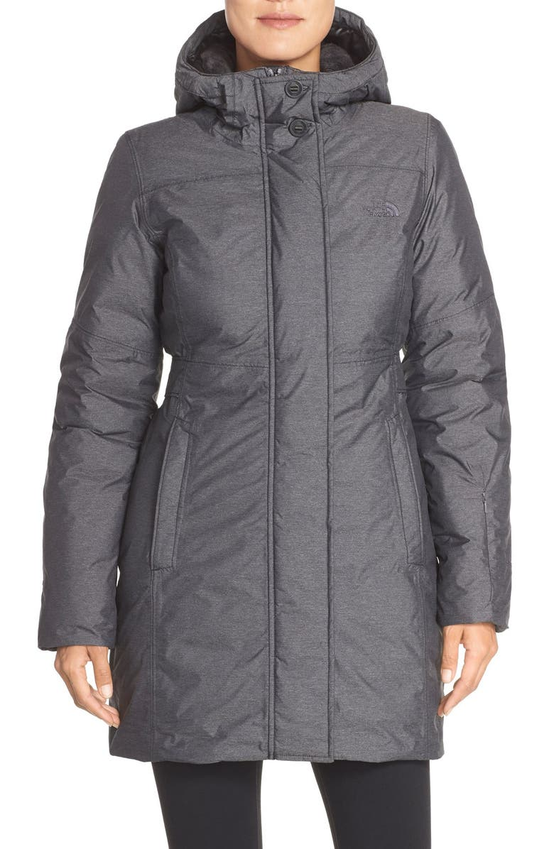 THE NORTH FACE 'Fifth and Pine' Waterproof Down Jacket, Main, color, 001