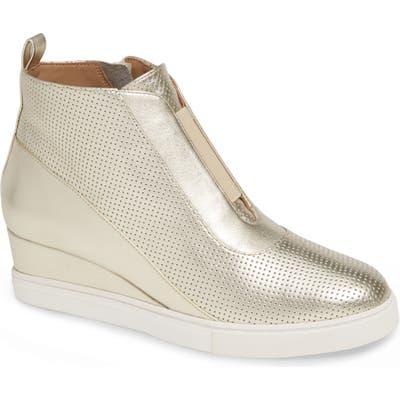 Linea Paolo Anna Wedge Sneaker- Metallic