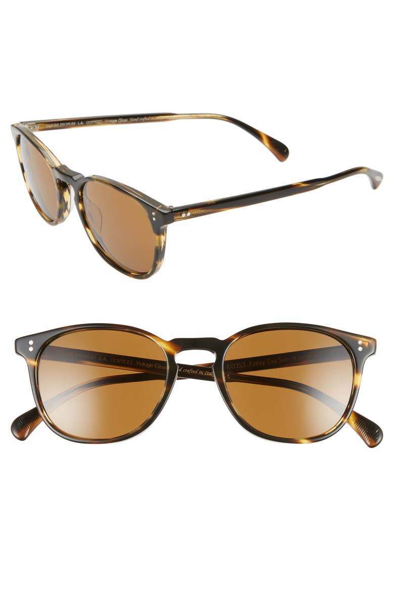 OLIVER PEOPLES Finley Esq. 51mm Sunglasses, Main, color, COCOBOLO/ BROWN