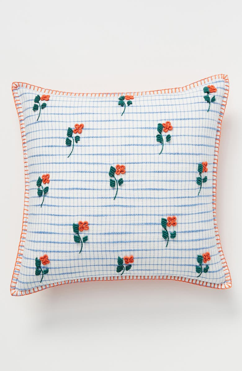 ANTHROPOLOGIE HOME Crowne Accent Pillow, Main, color, BLUE