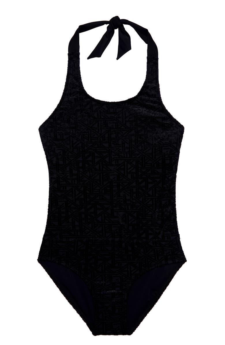 GOSSIP GIRL s One-Piece Swimsuit, Main, color, BLACK
