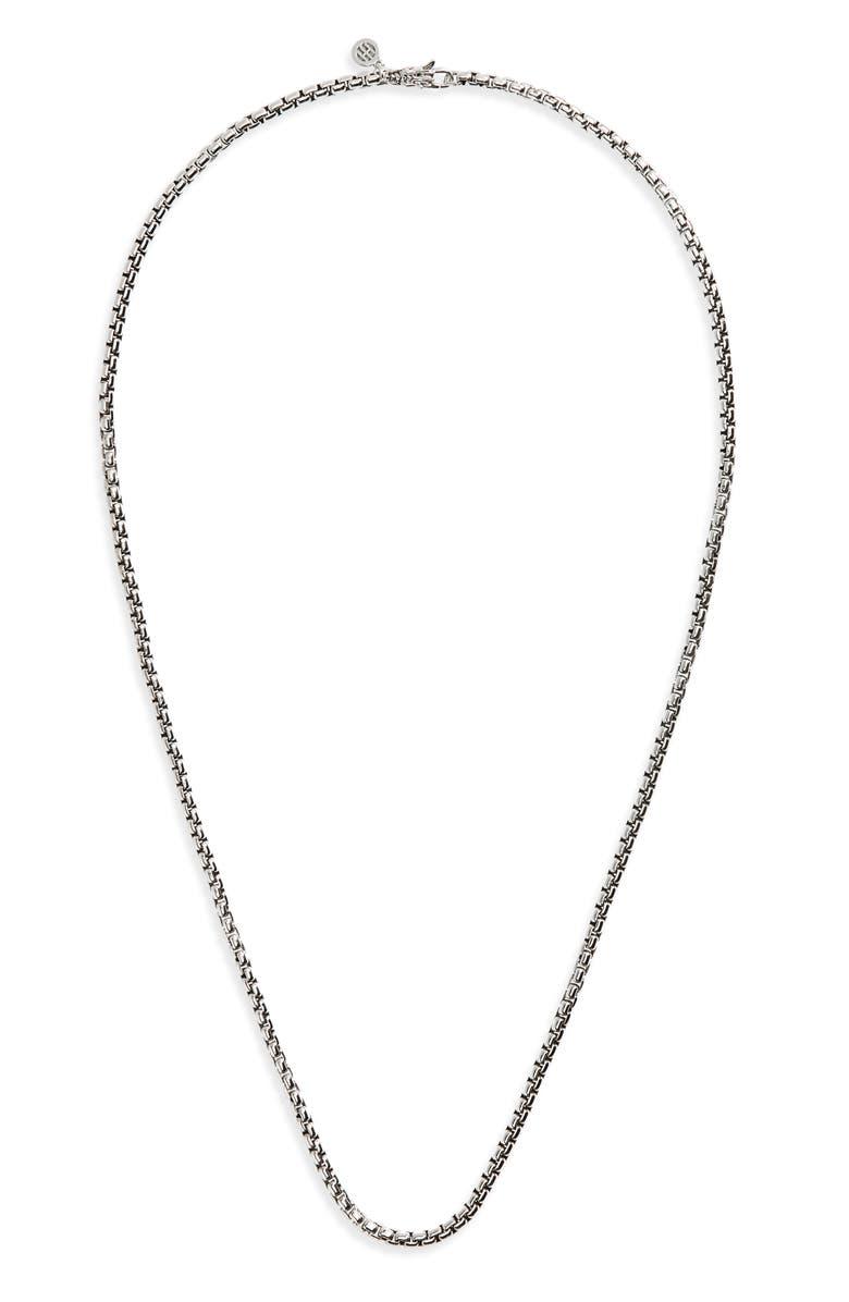 JOHN HARDY Naga Box Chain Necklace, Main, color, SILVER