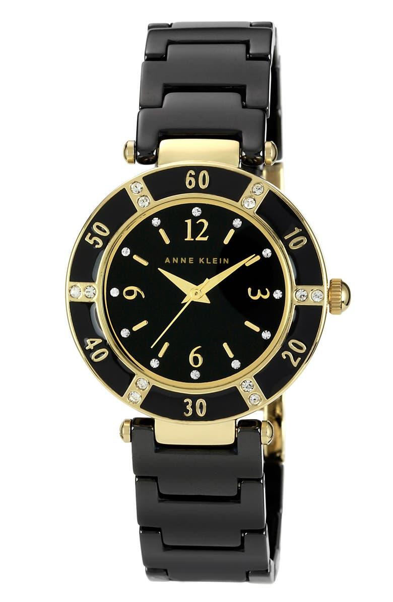 ANNE KLEIN Round Ceramic Bracelet Watch, Main, color, 001