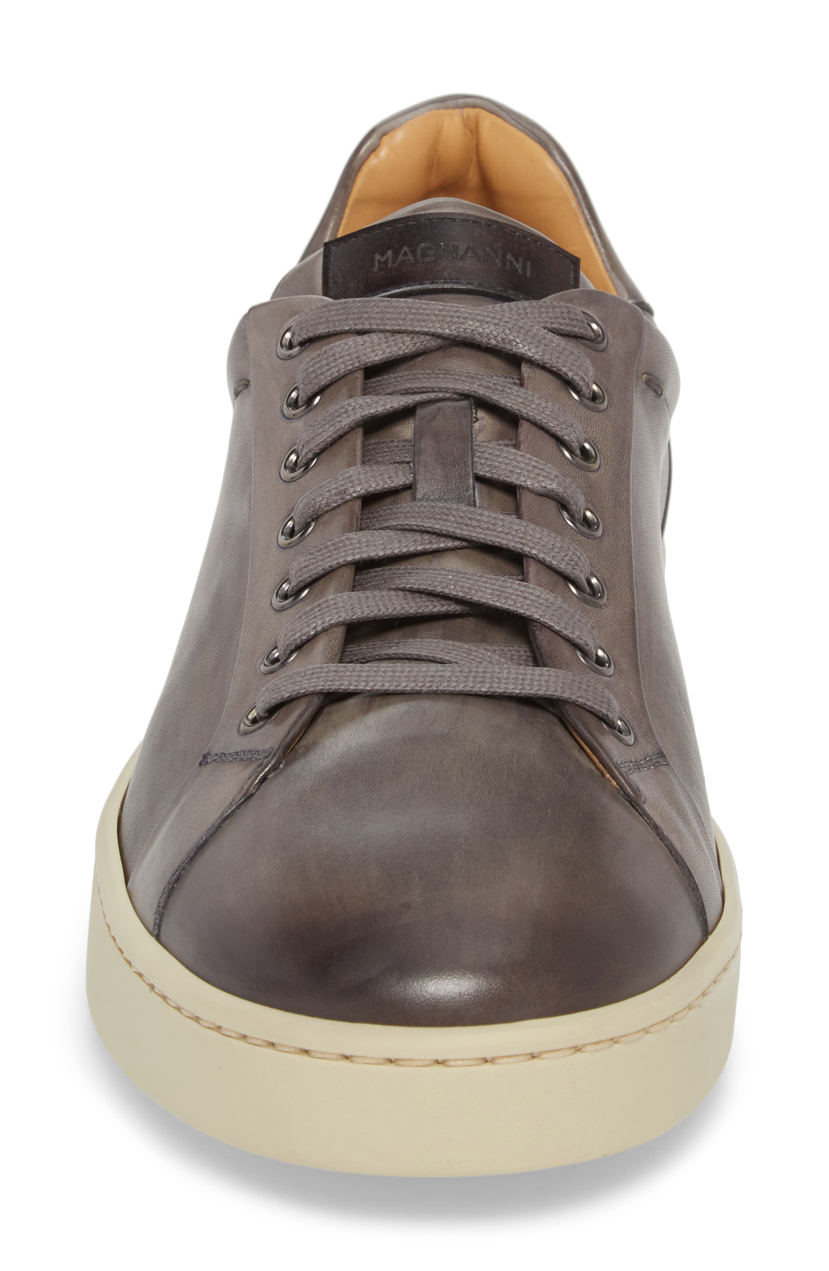 ,                             Elonso Low Top Sneaker,                             Alternate thumbnail 4, color,                             GREY LEATHER