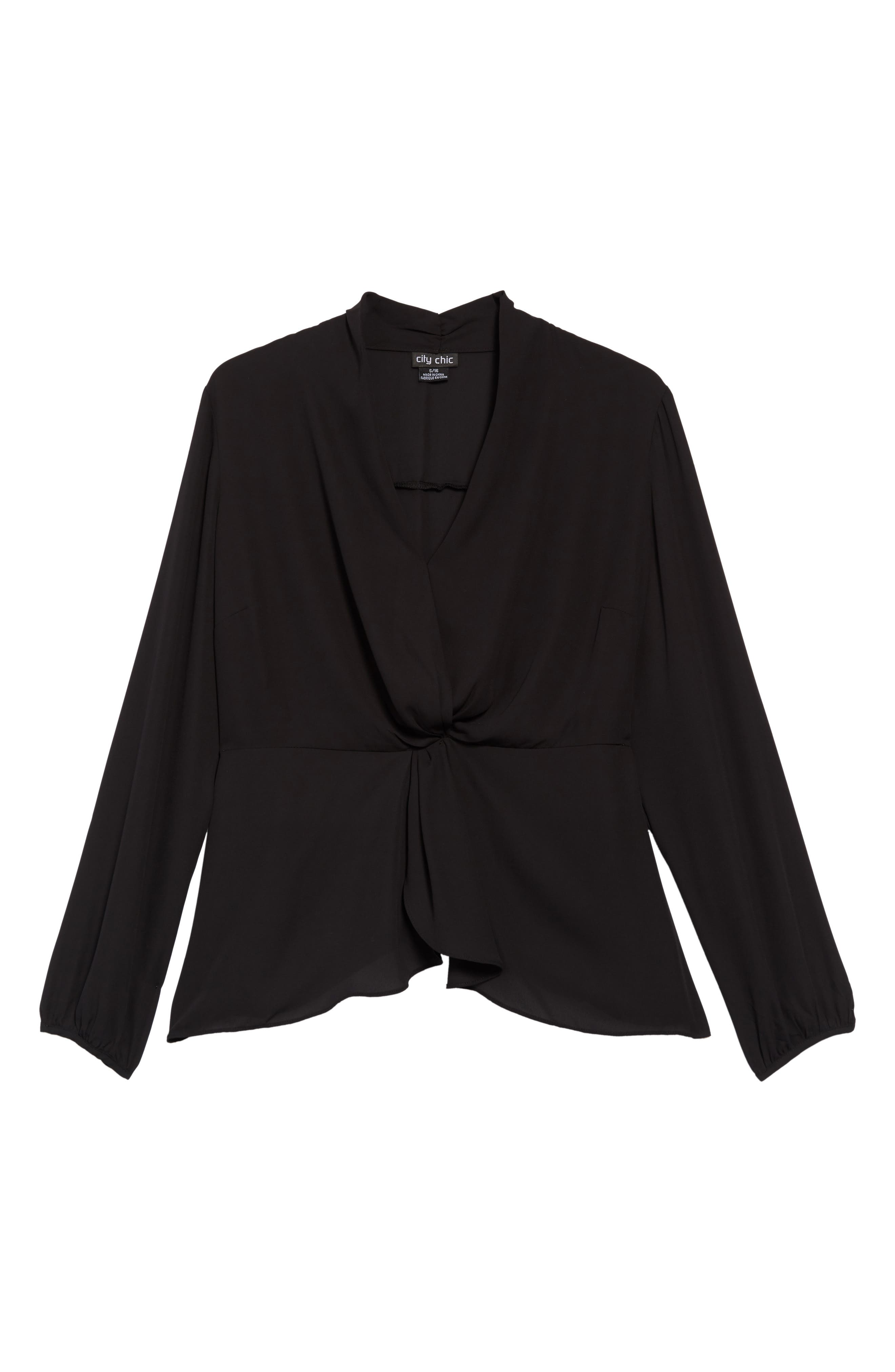 Gathered Top, Main, color, BLACK