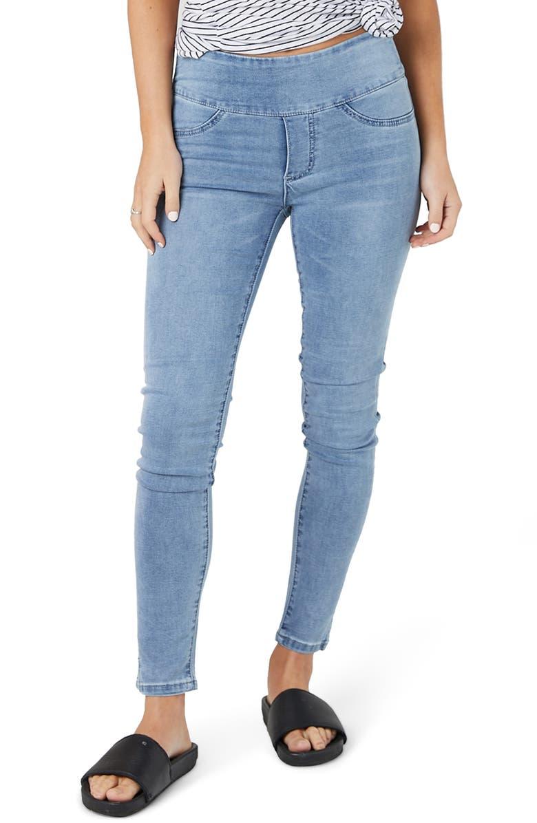LEGOE. Saturday Denims Maternity Jeans, Main, color, BLUE