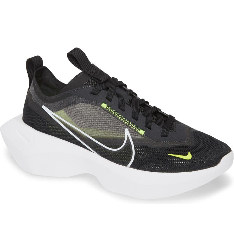 NIKE Vista Lite Sneaker, Main, color, BLACK/ WHITE/ LEMON VENOM