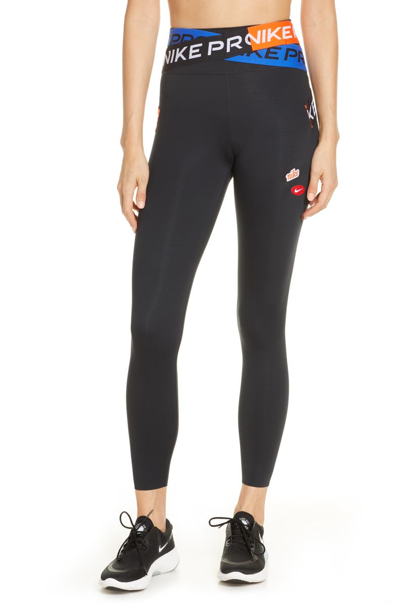NIKE One Luxe Icon Clash Dri-FIT 7/8 Tights, Main, color, 010