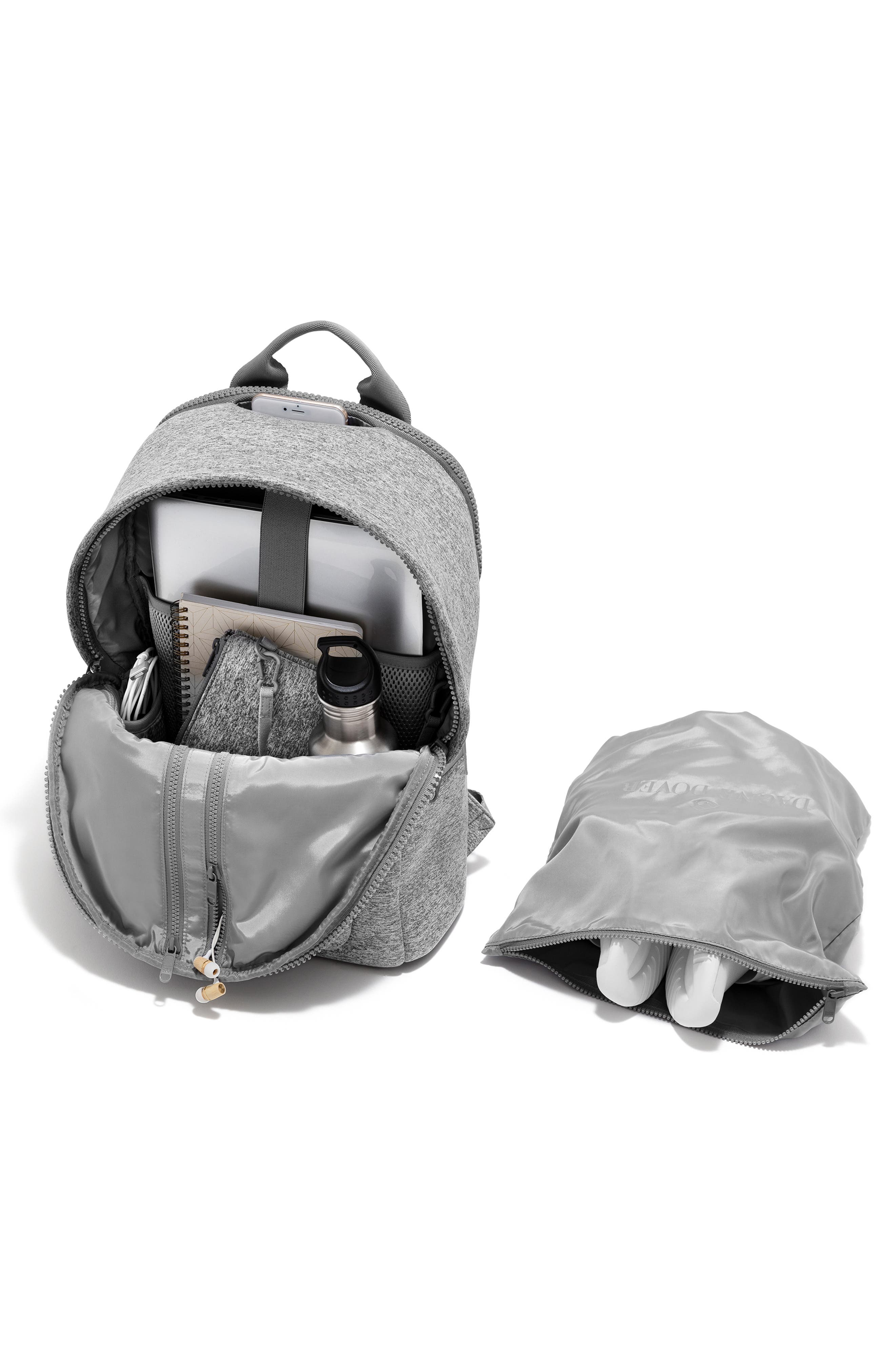 ,                             Large Dakota Neoprene Backpack,                             Alternate thumbnail 3, color,                             HEATHER GREY