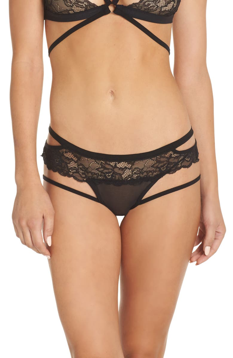 HONEYDEW INTIMATES Lucy Hipster Briefs, Main, color, BLACK